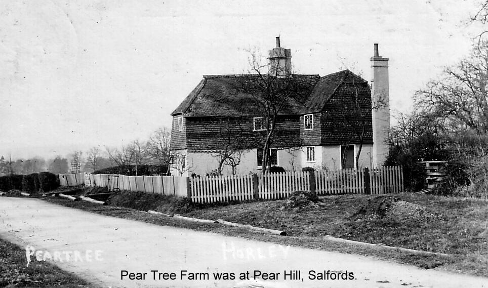 peartree farmhouse salfords 1905