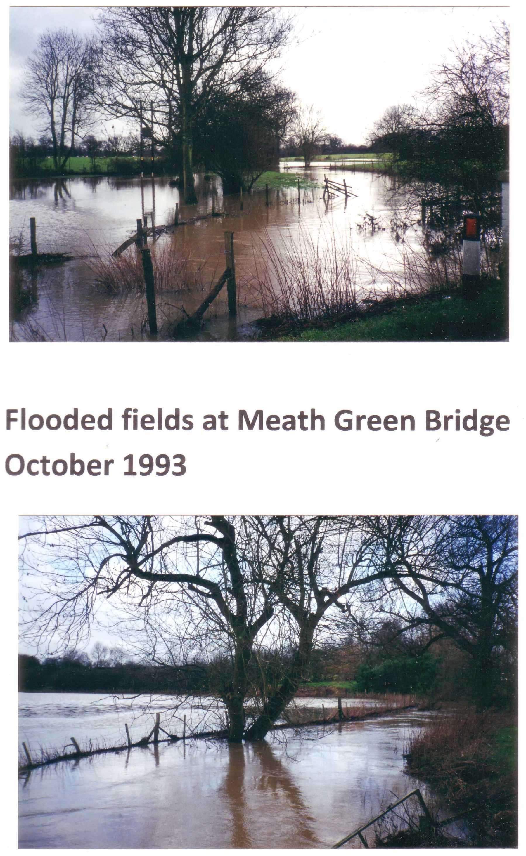 flooded fields at meath green bridge 1993