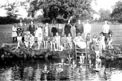 children swimming in the mole