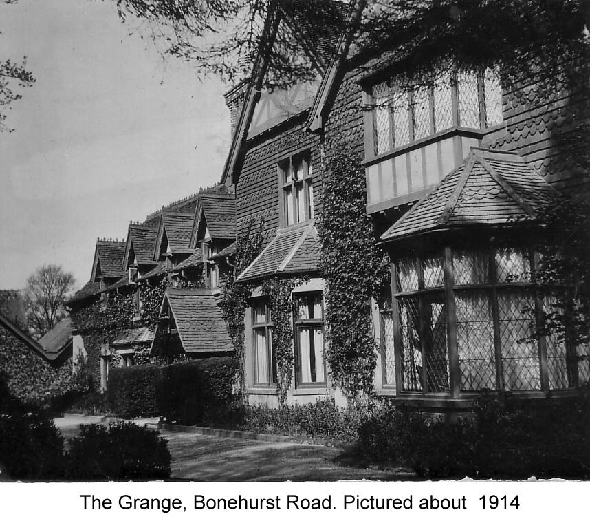 the grange bonehurst rd 1914