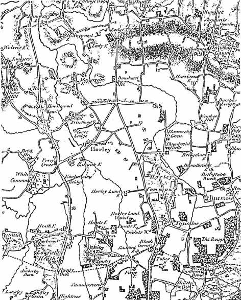 1816 Horley Town Map