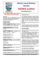 HLHS Newsletter DEC 2018